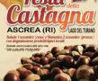 Locandina: Ascrea (Ri) 4a Festa della castagna 1 e 2 novembre 2014