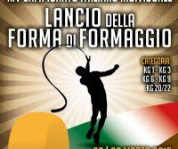 Locandina: XIIV CAMPIONATO ITALIANO DI LANCIO DELLA FORMA DI FORMAGGIO