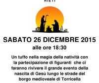 Locandina: Presepe Vivente a Torricella in Sabina