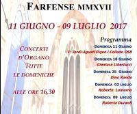 Locandina: Festival organistico farfense