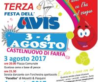 Locandina: 3^ Festa dell'AVIS di Castelnuovo di Farfa