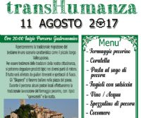 """Locandina: Percorso Gastronomico """"transHumanza"""""""