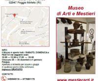 Locandina: Museo Arti e Mestieri a Poggio Mirteto