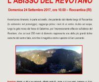 """Locandina: L'Abisso del """"Revòtano"""""""