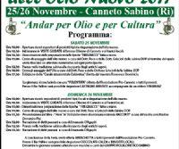 Locandina: XX^ Festa dell'olio nuovo 2017