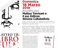 """Locandina: Incontro con Matteo Trevisani, autore del romanzo """"Libro dei fulmini"""""""