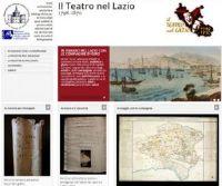 Locandina: Il Teatro nel Lazio 1798-1870
