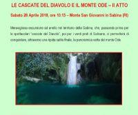 Locandina: Le cascate del Diavolo e il monte Ode