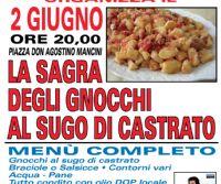 Locandina: Sagra degli gnocchi al sugo di castrato