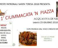 Locandina: 1° Ciummacata in piazza