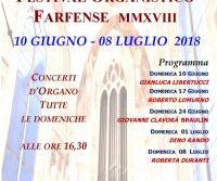 Locandina: Festival Organistico Farfense 2018