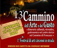 Locandina: XIII Cammino dell'arte e del gusto