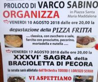 Locandina: Degustazione delle pizze fritte e 36° sagra della bracioletta di pecora