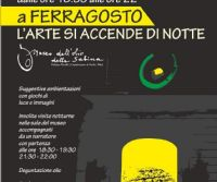 Locandina: A Castelnuovo di Farfa la cultura e l'arte si accendono di notte a Ferragosto