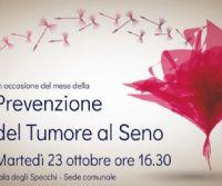 Locandina: Convegno sulla prevenzione del tumore al seno