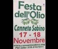 Locandina: 21^ Festa dell'Olio Nuovo 2018