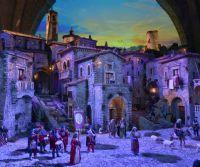 Locandina: Il presepe monumentale torna visibile sotto gli archi del Palazzo Papale