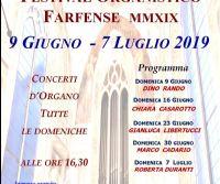 Locandina: Festival organistico Farfense 2019