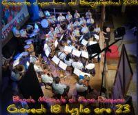 Locandina: Concerto inaugurale della BANDA MUSICALE DI FIANO ROMANO, diretta dal M° Aldo Surio