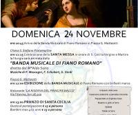 Locandina: Festeggiamenti in onore di Santa Cecilia