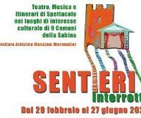 Locandina: Rinviati ad aprile gli spettacoli di marzo a Casasaprota e Castelnuovo di Farfa