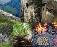 Locandina: Pratoni, casette dei pastori e antica cava romana di marmo rosso a Cottanello