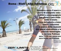 Locandina: Cicloturismo: Roma – Rieti – Alba Adriatica