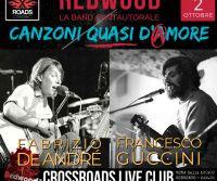 Locandina: REDWOOD esegue De André e Guccini