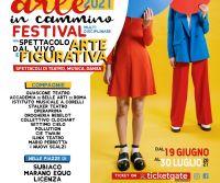 Locandina: Portraits on stage. Arte in Cammino