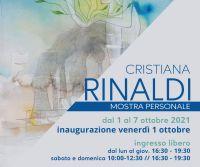 Locandina: Mostra personale di Cristiana Rinaldi