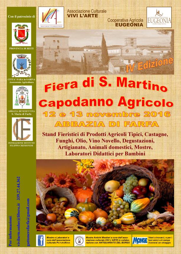 FIERA DI SAN MARTINO - CAPODANNO AGRICOLO - IV EDIZIONE, Abbazia di ...