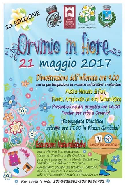 Fiori 21 Maggio 2017.Orvinio In Fiore Fiere E Mercatini In Sabina Go Sabina