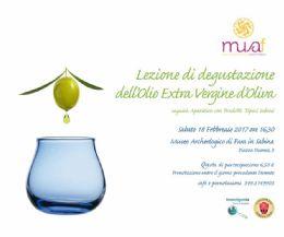 Locandina: Lezione di assaggio dell'olio extra vergine di oliva