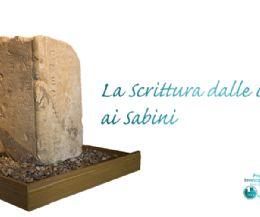 Locandina: La scrittura dalle origini ai Sabini
