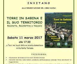 Locandina: Torri in Sabina e il suo territorio - Rocchette, Rocchettine e Vescovio