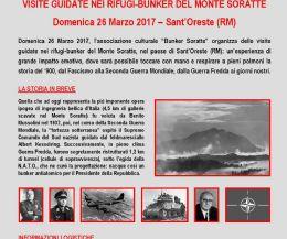 Locandina: I rifugi-bunker del Monte Soratte