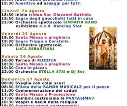 Locandina: Torricella in Sabina - Festa di San Giovanni Battista