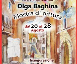 Locandina: Olga Bagina - Mostra di pittura