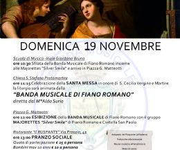 Locandina: Festeggiamenti in onore di Santa Cecilia, Patrona della Musica e dei Musicisti