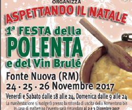 Locandina: Aspettando il Natale - 1ª Festa della polenta e vin brulè