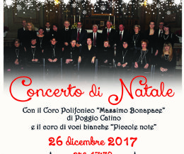 """Locandina: Concerto di Natale con la corale """"Massimo Bonapace"""""""