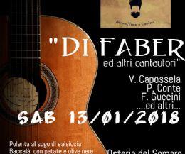 Locandina: Di Faber e altri cantautori