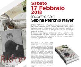 Locandina: Incontro in libreria con Sabina Petronio Mayer