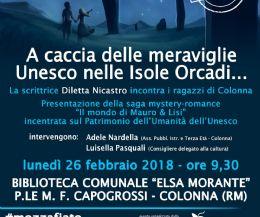 Locandina: Diletta Nicastro incontra gli studenti di Colonna