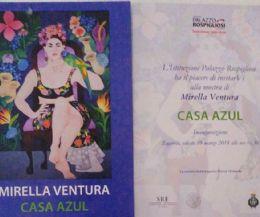 Locandina: Mostra di pittura di Mirella Ventura