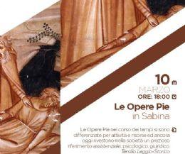 Locandina: Le Opere Pie in Sabina