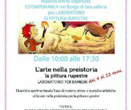 Locandina: Estemporanea d'arte e laboratorio di arte rupestre