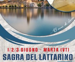 Locandina: 43a edizione della Sagra del Lattarino