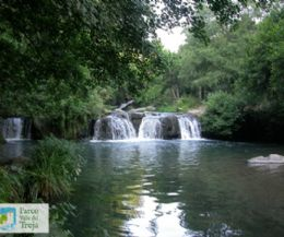Locandina: Le cascate e il mulino ad acqua di Monte Gelato