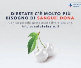 Locandina: Emergenza sangue nel Lazio